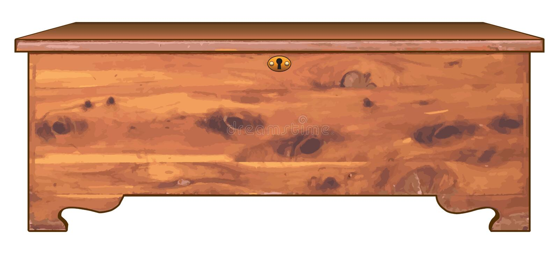 Pecho de cedro stock de ilustración