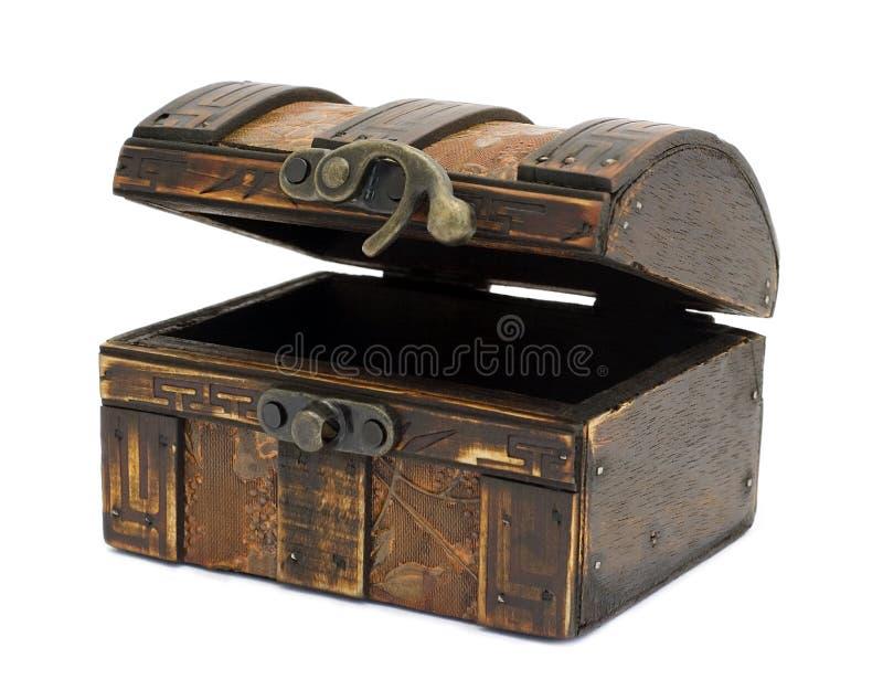 Pecho de madera antiguo fotografía de archivo libre de regalías