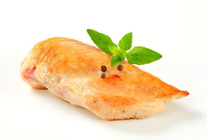 Pecho de pollo chamuscado fotografía de archivo