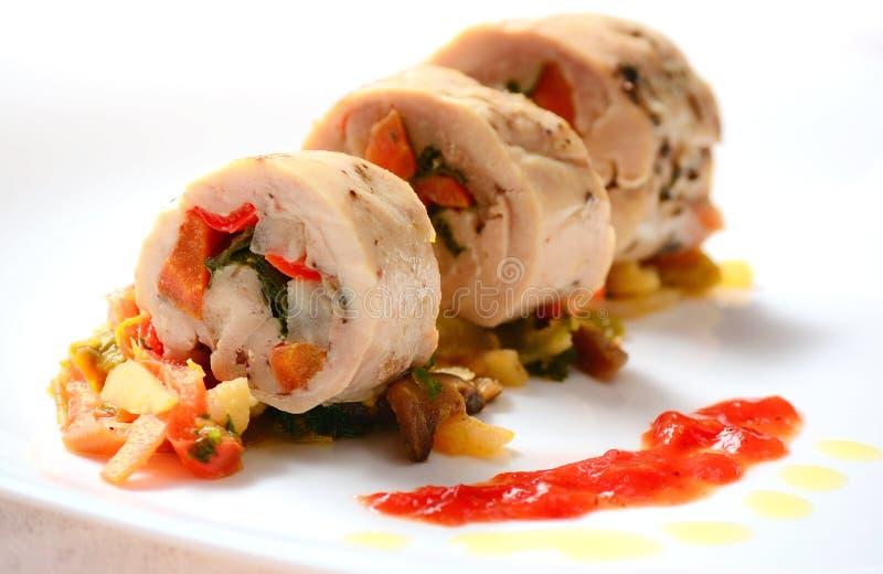 Pecho de pollo italiano Rolls imagen de archivo