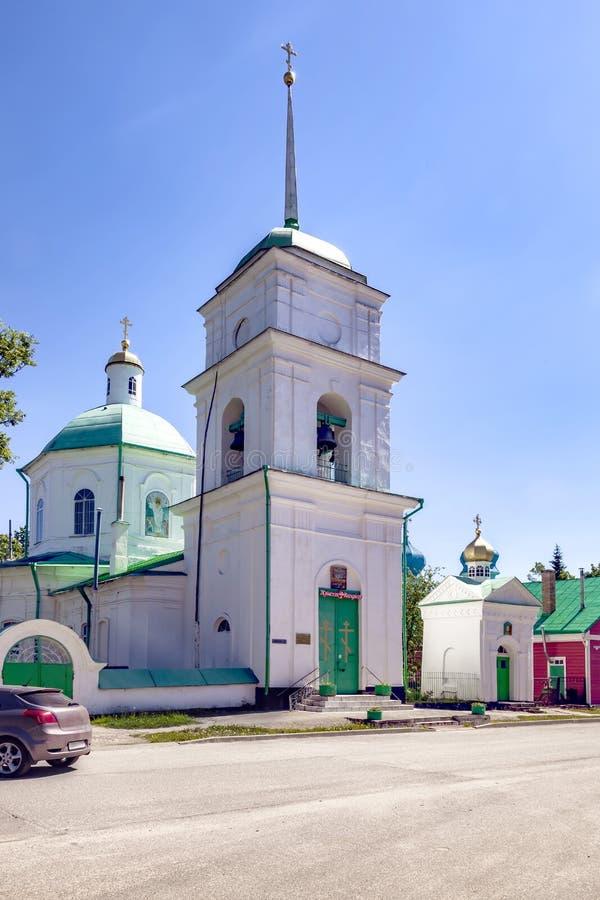 Pechory-Stadt Kirche der vierzig Märtyrer von Sebaste stockbilder