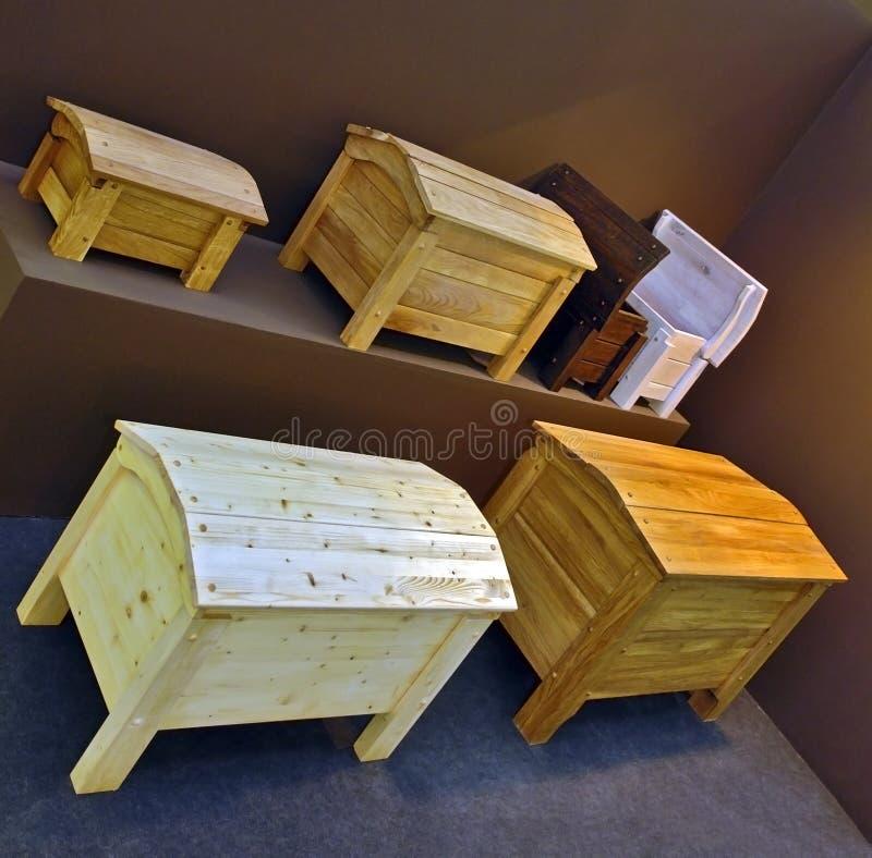 Pechos de madera imagen de archivo libre de regalías