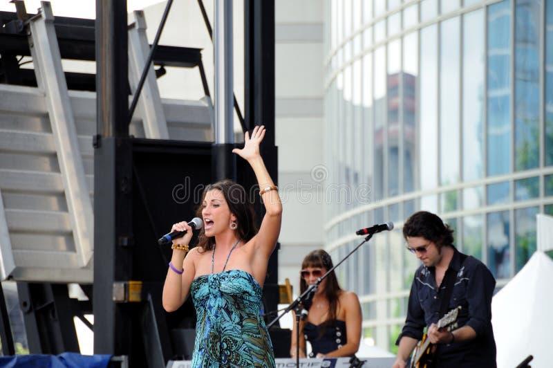 Peck de Danielle da estrela da música country foto de stock royalty free