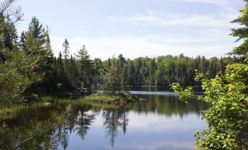 Peck Lake, parque provincial 3 do Algonquin imagens de stock royalty free