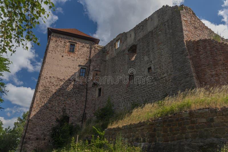Pecka-Schloss am sonnigen Tag des heißen Sommers in Ost-Böhmen lizenzfreie stockfotos