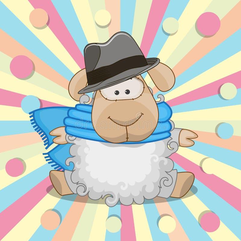 Pecore con il cappello illustrazione vettoriale