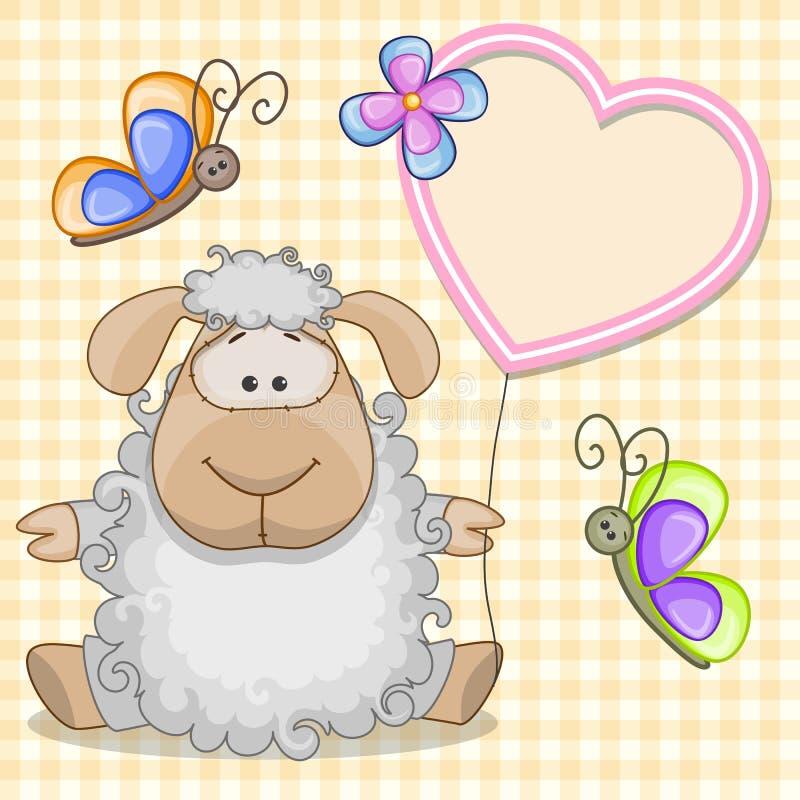 Pecore con la struttura del cuore royalty illustrazione gratis