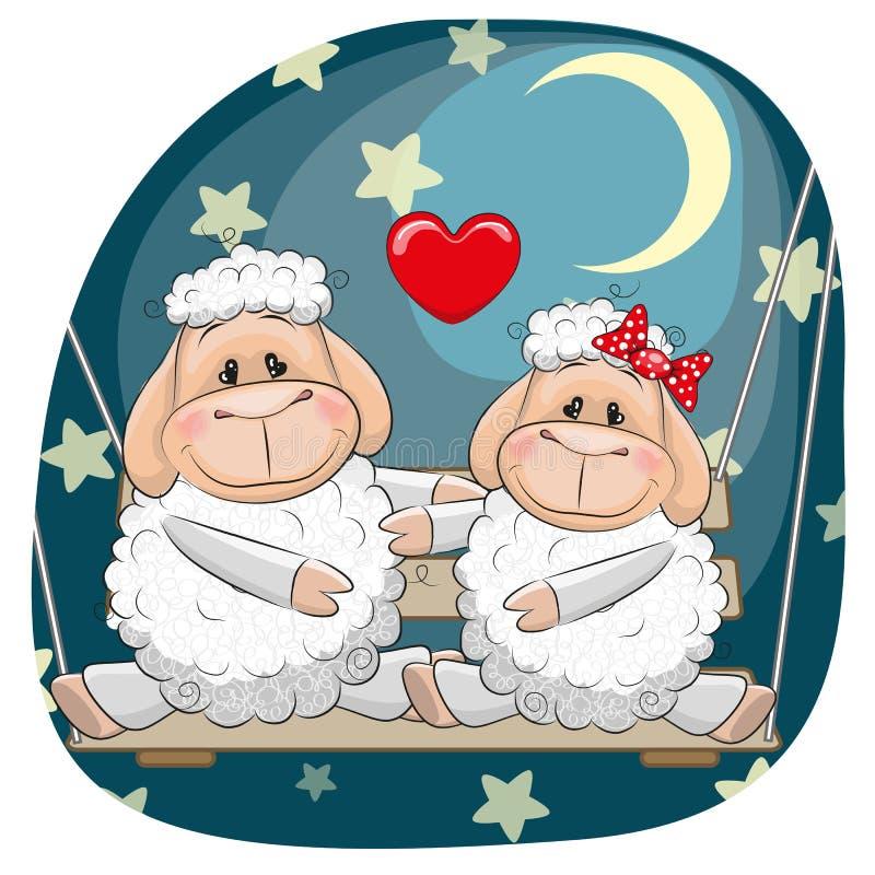 Pecore degli amanti royalty illustrazione gratis