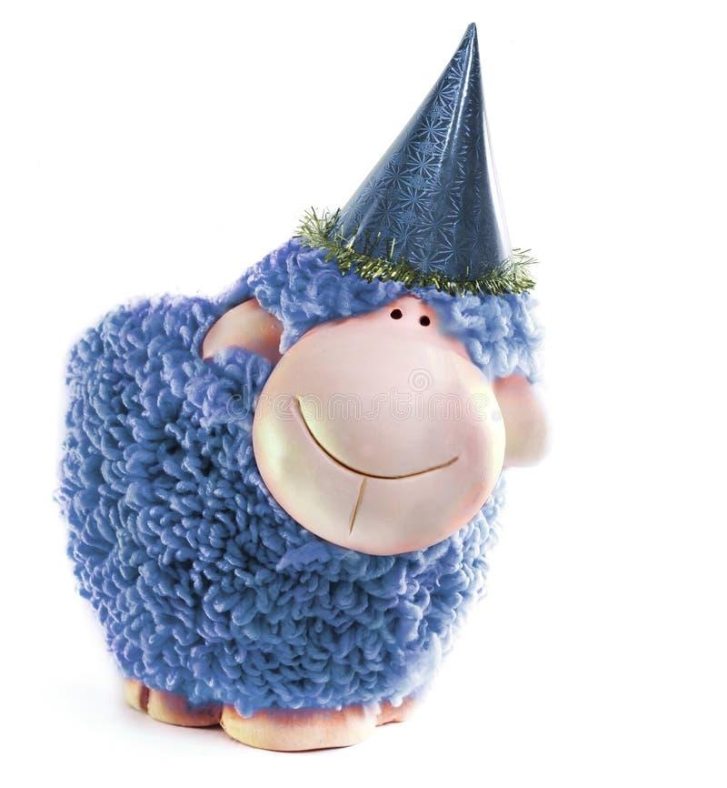 Pecore del nuovo anno fotografie stock