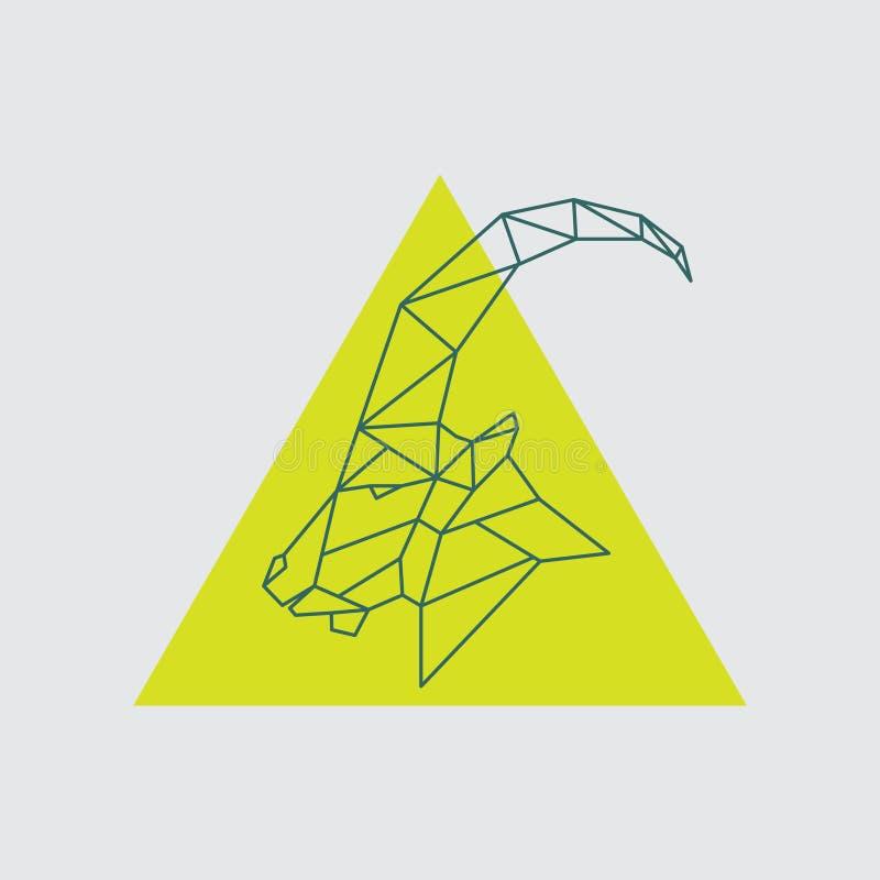 Pecore di montagna cape geometriche con la vista laterale royalty illustrazione gratis