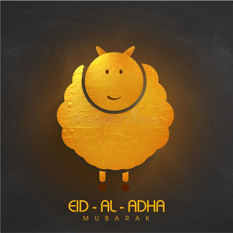 Pecore dorate per la celebrazione di Eid al-Adha royalty illustrazione gratis