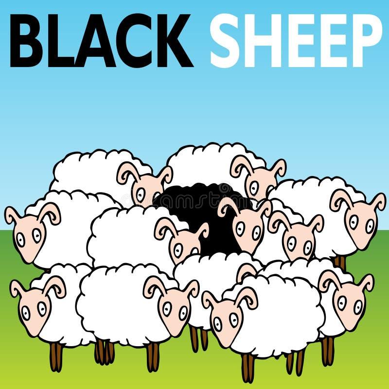 Pecore nere royalty illustrazione gratis