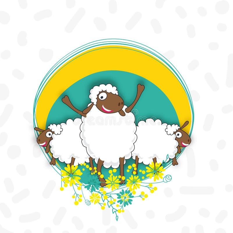 Pecore per la celebrazione di Eid al-Adha royalty illustrazione gratis