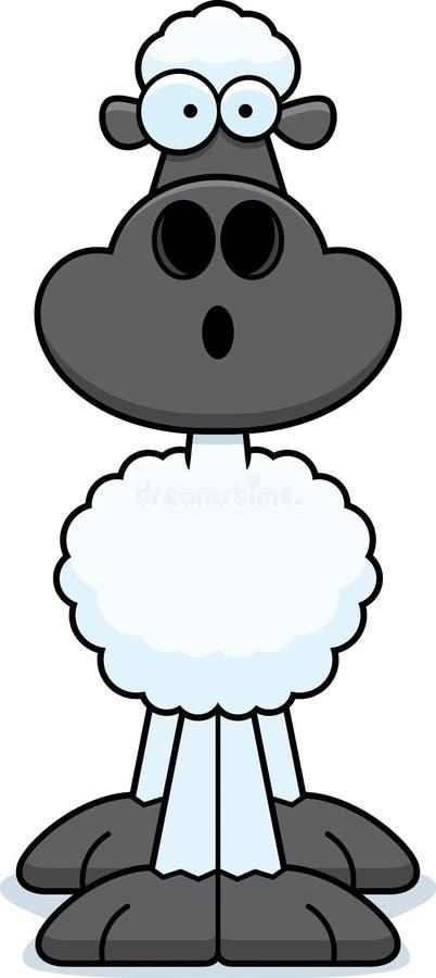 Pecore sorprese del fumetto illustrazione di stock