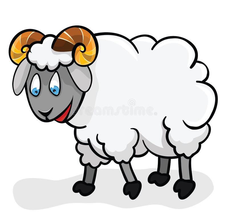 Pecore sveglie. royalty illustrazione gratis