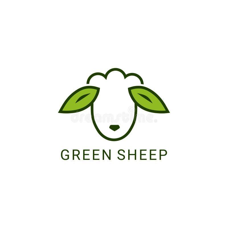 Pecore verdi illustrazione vettoriale
