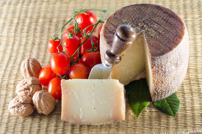 Pecorino и томаты стоковые фотографии rf