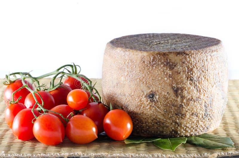 Pecorino и томаты стоковое фото