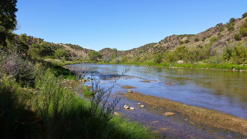 Pecos River nordligt nytt - Mexiko, September 1st, 2014 arkivbilder