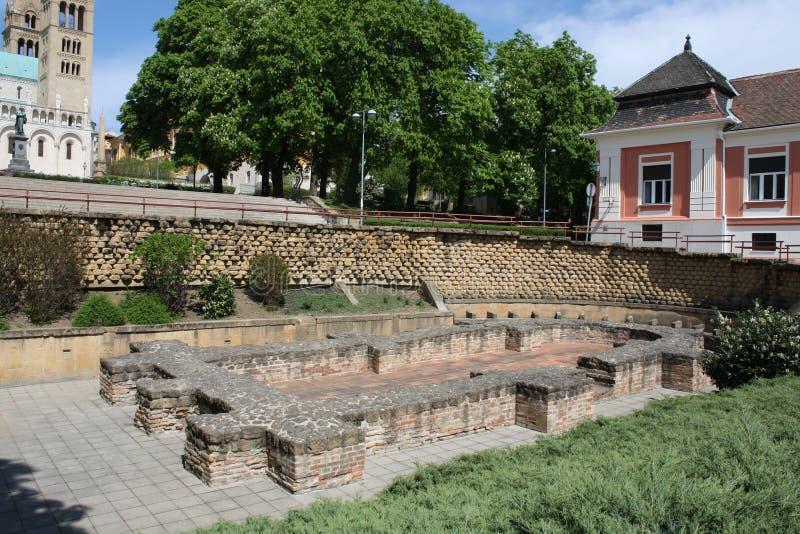 Ruins in Hungary. Pecs in Hungary - the Ruins stock photo