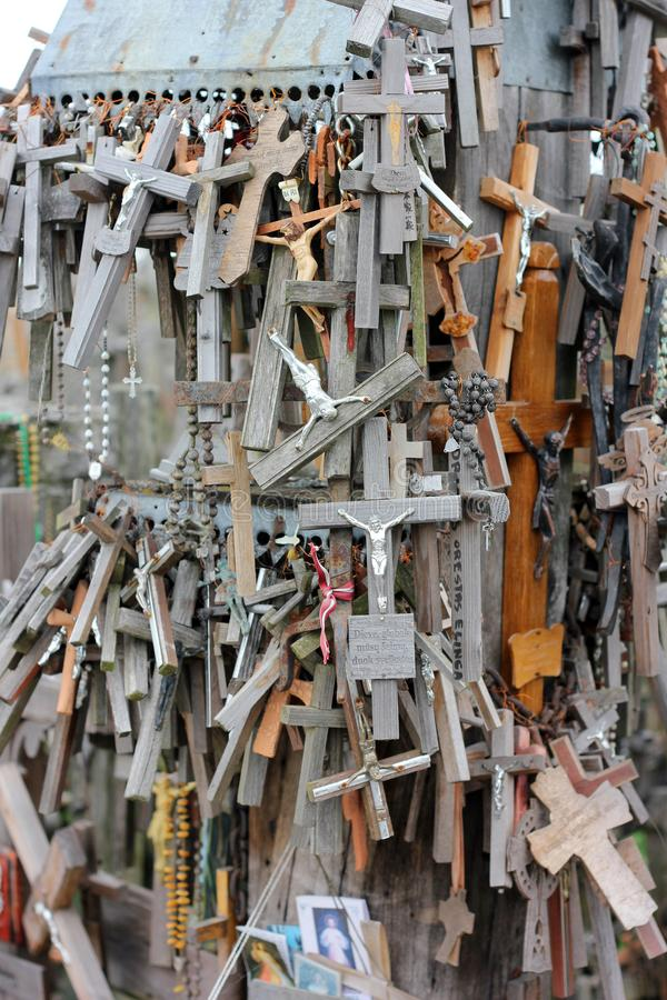 The hill of crosses in Lithuania royalty free stock image