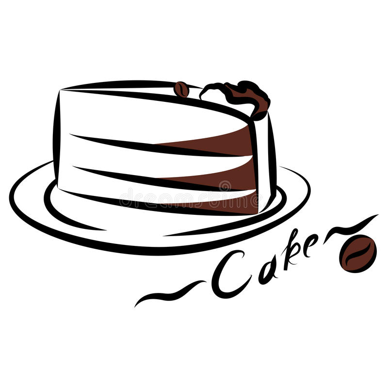 Pedaço de bolo ilustração royalty free