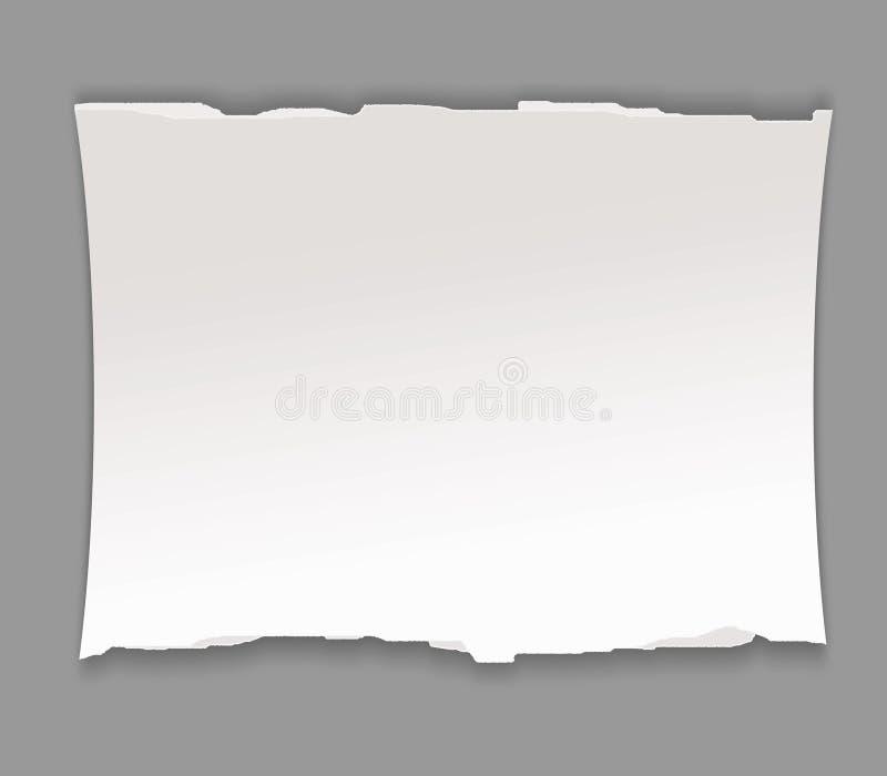Pedaço de papel ilustração stock