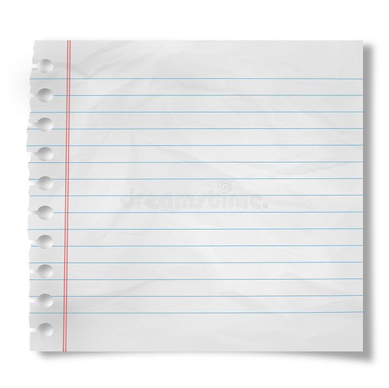 Pedaço de papel ilustração do vetor