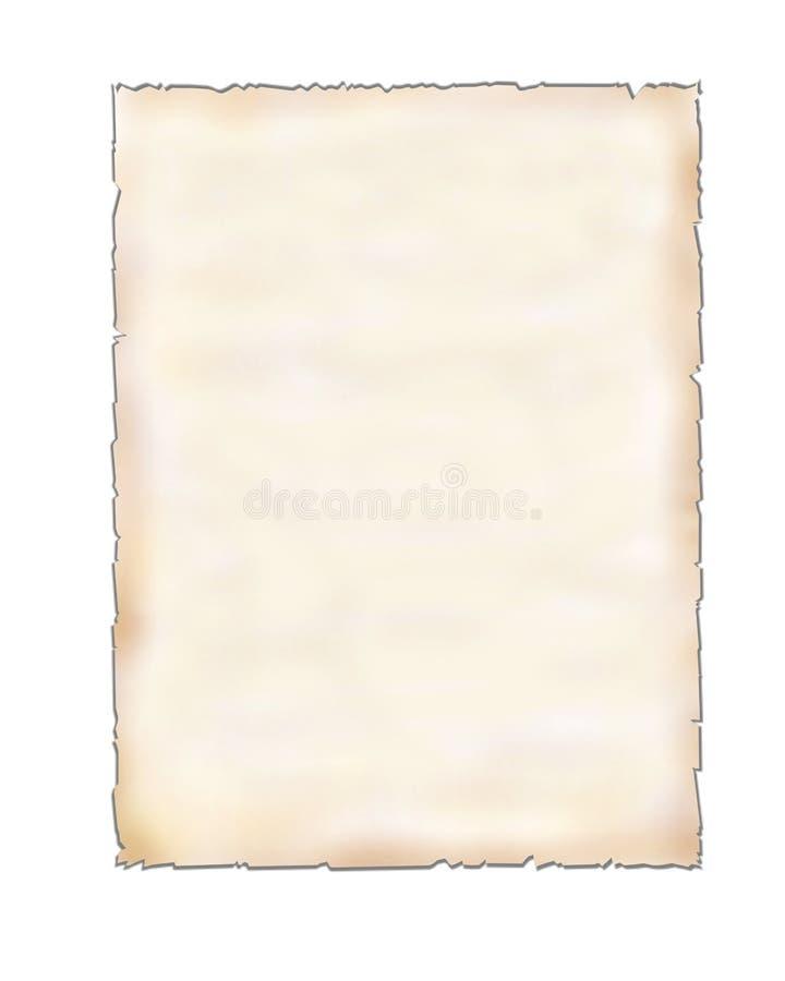 Pedaço de papel em branco no branco imagem de stock royalty free