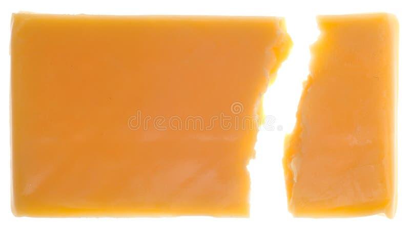 Pedaço do queijo de queijo Cheddar imagens de stock royalty free