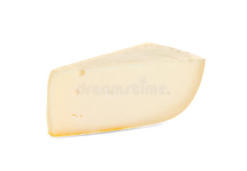 Pedaço saboroso de grana padano isolado foto de stock