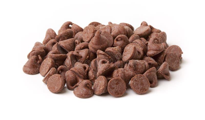 Pedaços da microplaqueta de chocolate imagem de stock