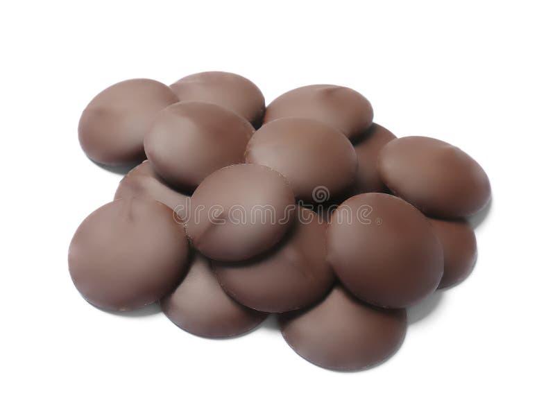 Pedaços de chocolate pretos deliciosos fotografia de stock royalty free
