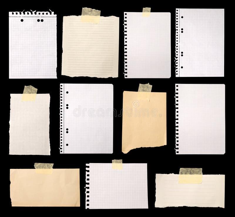 Pedaços de papel imagens de stock