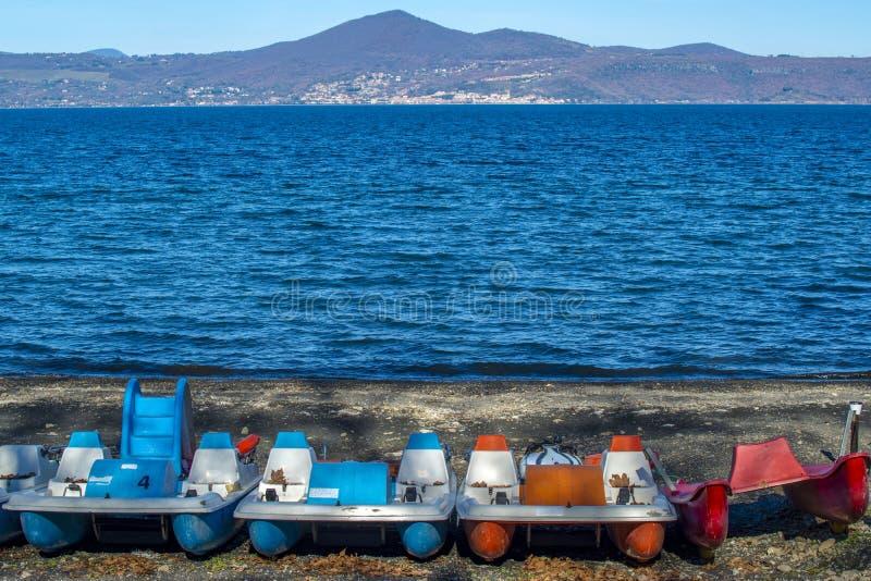 Pedałowe łodzie zdjęcie stock
