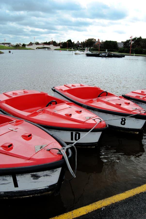 Pedałowe łodzie obrazy royalty free
