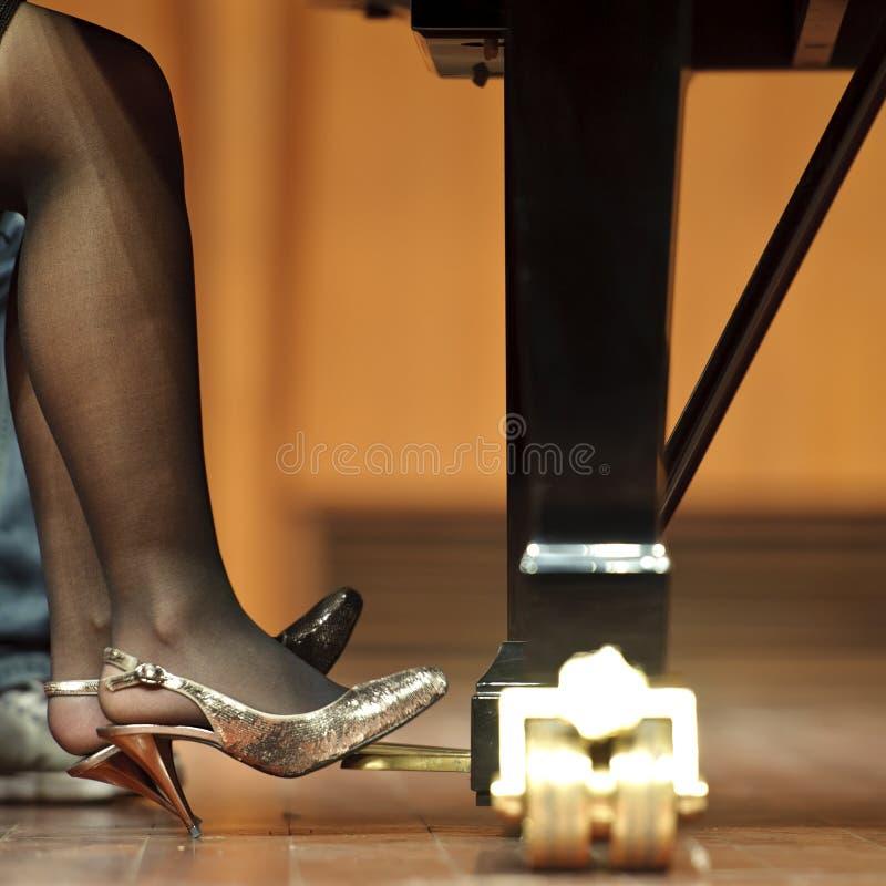 Pedaal van piano op overleg royalty-vrije stock foto's