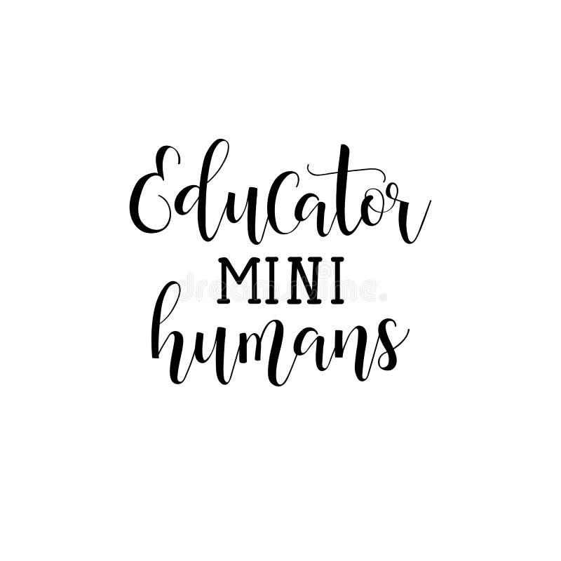 Pedagog mini istoty ludzkie Nauczyciela ` s dnia ręki literowanie ilustracji