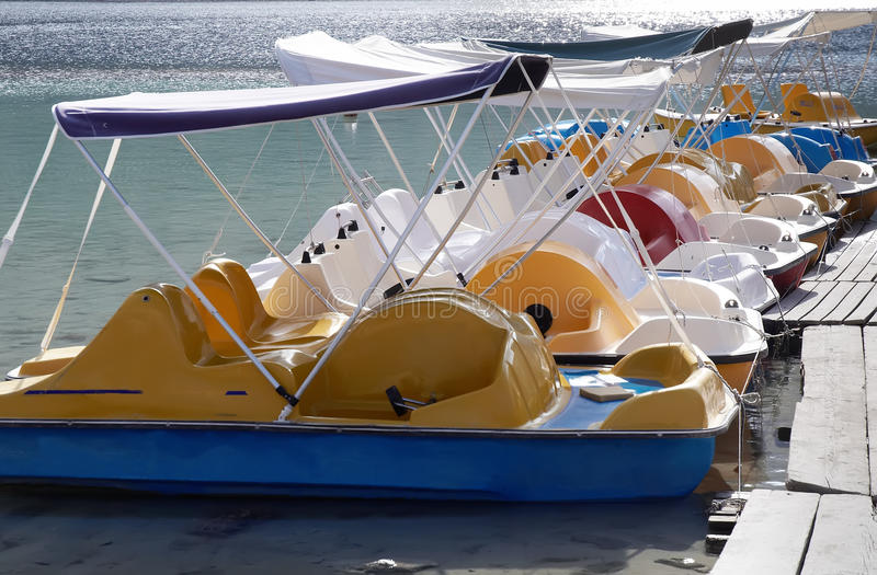 Download Pedal boat in lake . stock photo. Image of boat, amusement - 16568690