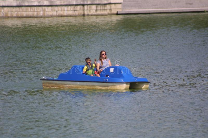 Pedal Boats in The Grand Basin 2019 royalty free stock photography