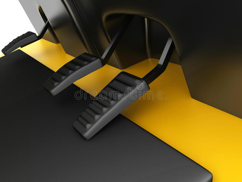 Pedal de acelerador, freno y carretilla elevadora del embrague libre illustration