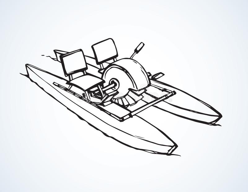 Pedal del catamarán Gráfico del vector libre illustration