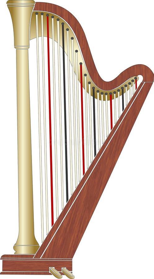 Pedal-Harfe stockbilder