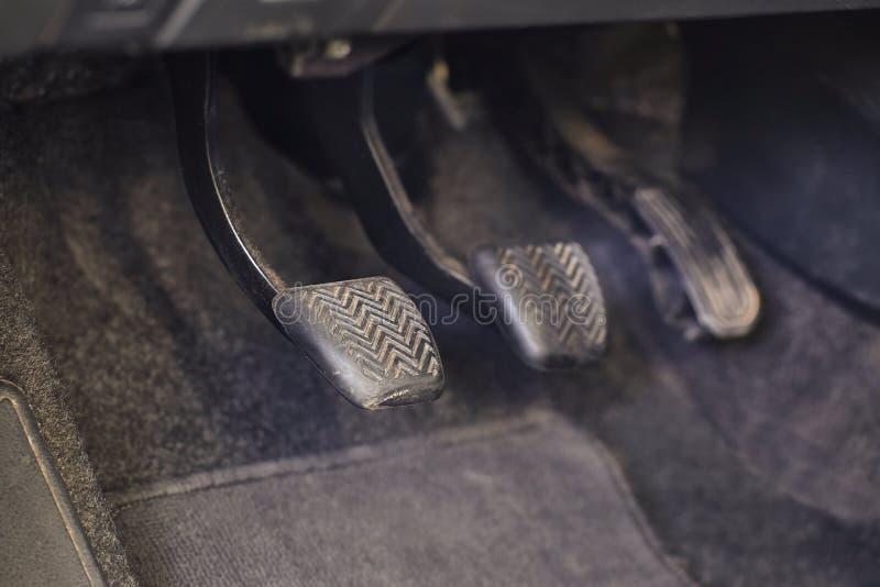 Pedale eines Autos lizenzfreies stockfoto
