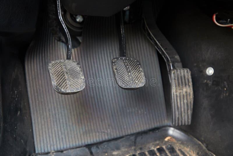 Pedale eines Autos lizenzfreie stockbilder