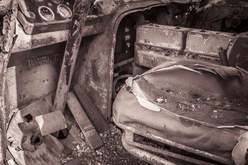 Pedales del volante abandonados fotos de archivo libres de regalías