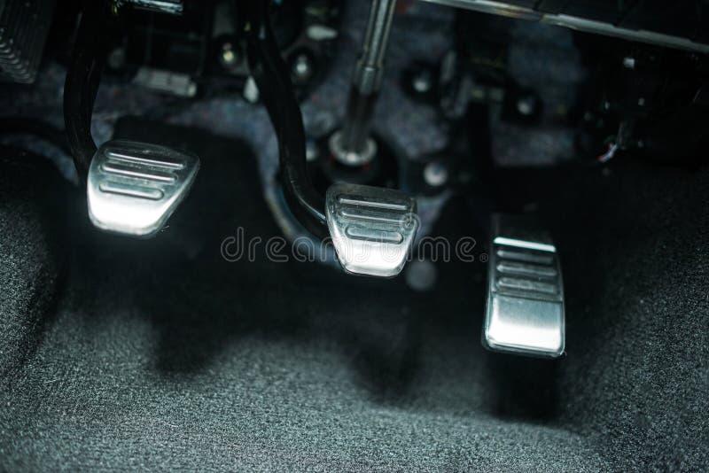 Pedali dell'automobile immagine stock