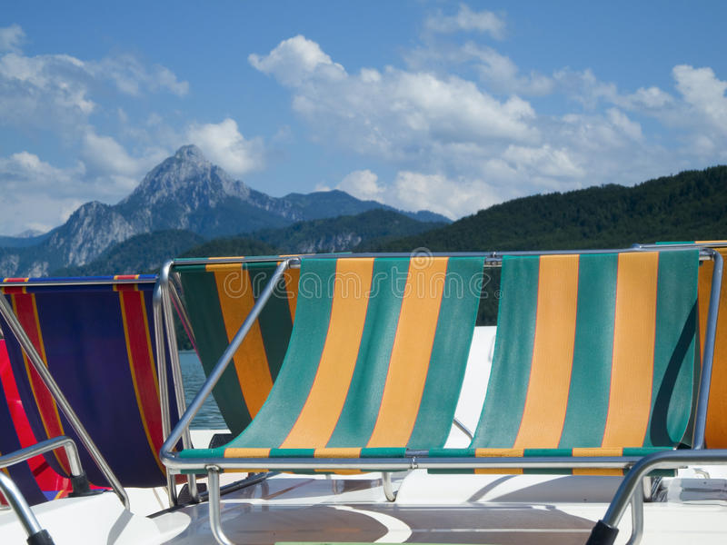 Download Pedalos By The Mountain Lake Stock Image - Image: 26623877