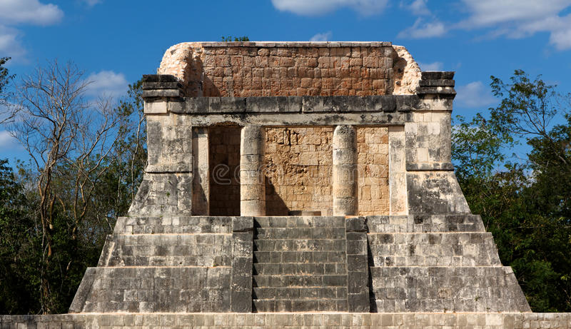 Pedana Mayan a Chichen Itza fotografie stock