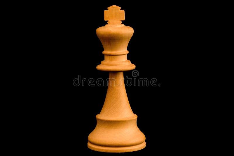 Pedazo de ajedrez blanco del rey fotos de archivo libres de regalías